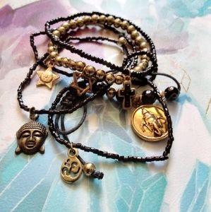 World Religions Multi Strand Bracelet